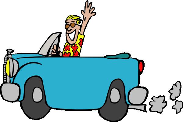 600x399 Car Driving Clipart