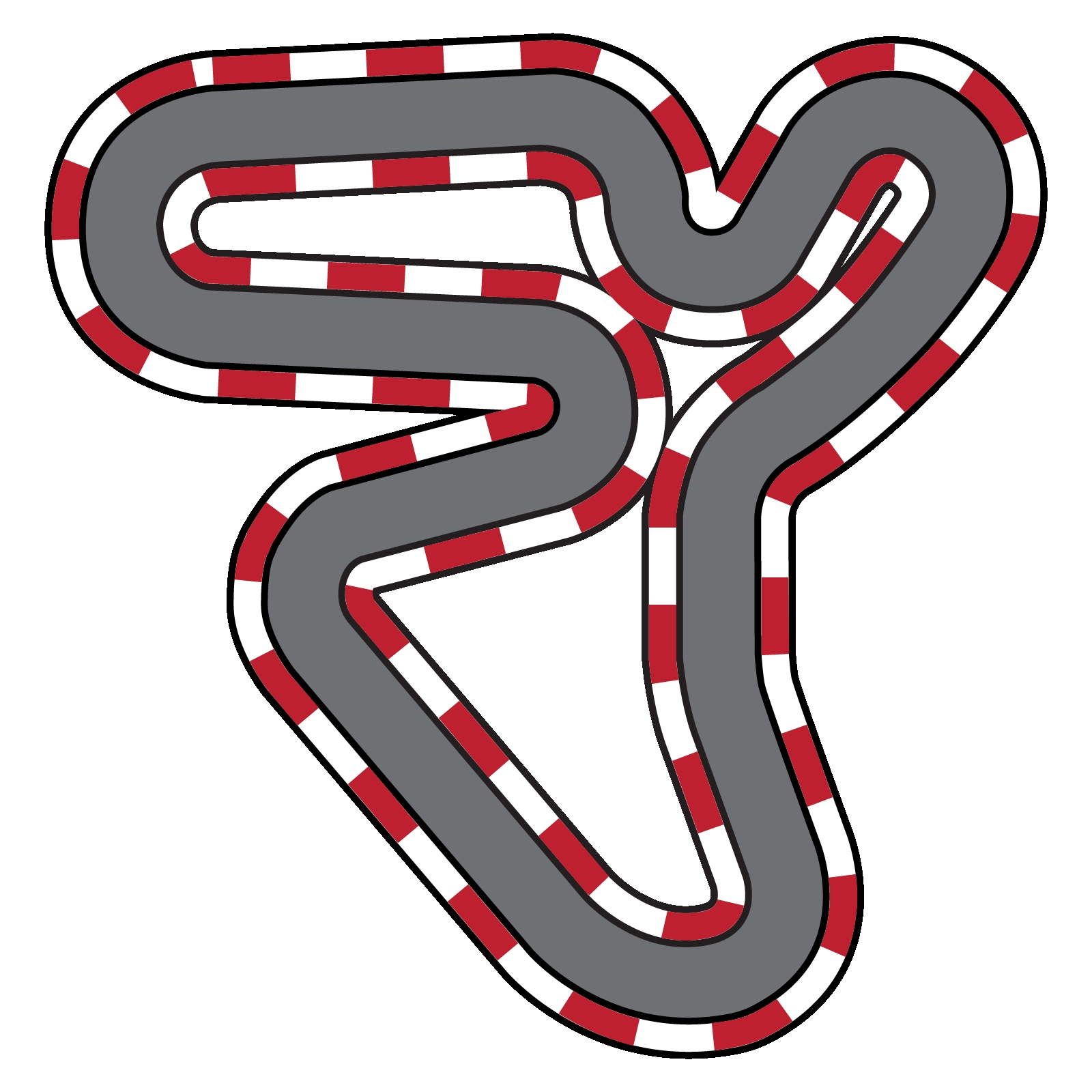 1600x1600 New Race Track Clipart Design