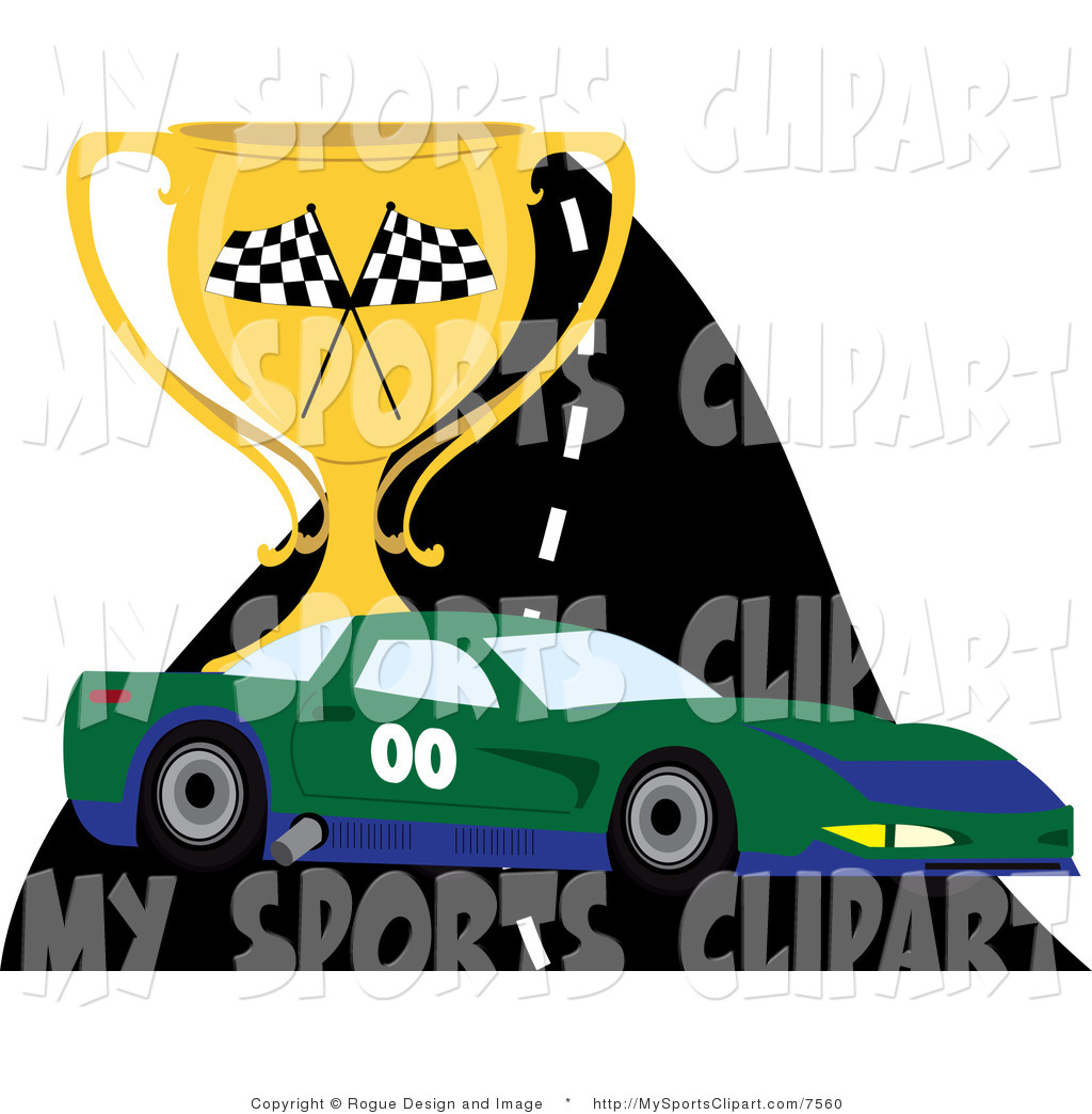 1024x1044 Sports Clip Art Of A Race Car On A Track With A Trophy By Pams