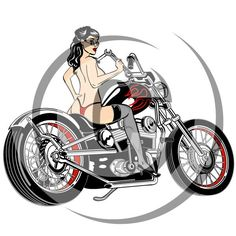 236x236 Pin Up Girl Racing Clip Art