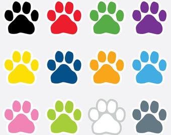 340x270 Well Suited Pawprint Clipart Orange Paw Print Clip Art At Clker