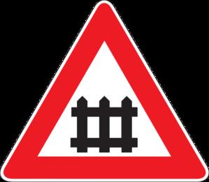 299x261 Guarded Railroad Crossing Clip Art