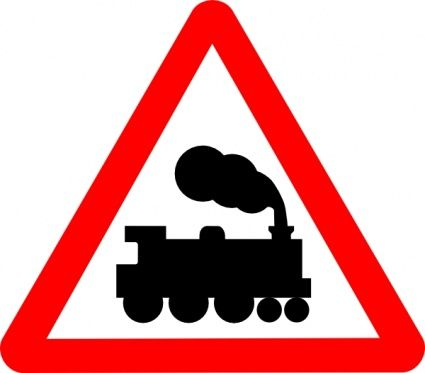 425x373 Railroad Tracks Clipart Train Symbol