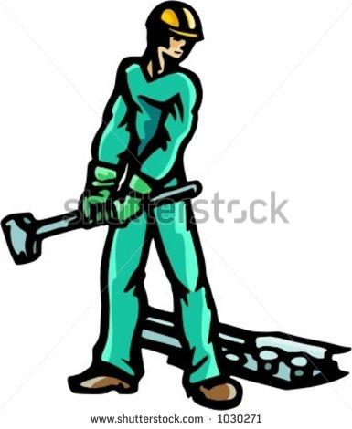 385x470 Railroad Workers Clipart