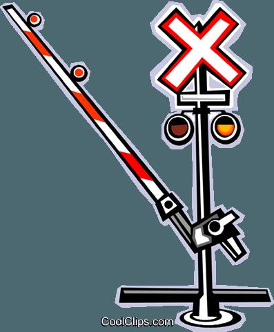 397x480 Railway Crossing Royalty Free Vector Clip Art Illustration