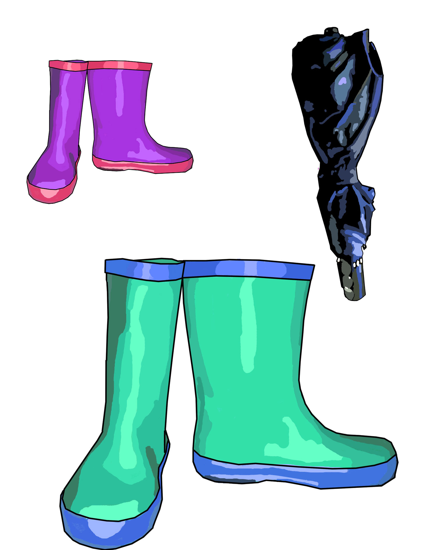 1536x1920 Rain Boots Amp Umbrella Clip Art Free Stock Photo