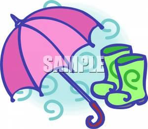 300x261 An Umbrella And Rain Boots