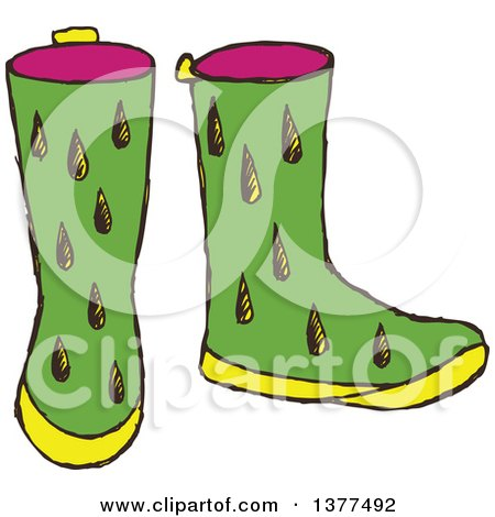 450x470 Royalty Free (Rf) Clipart Of Rubber Boots, Illustrations, Vector