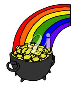 Rainbow And Pot Of Gold Clipart At Getdrawingscom Free For
