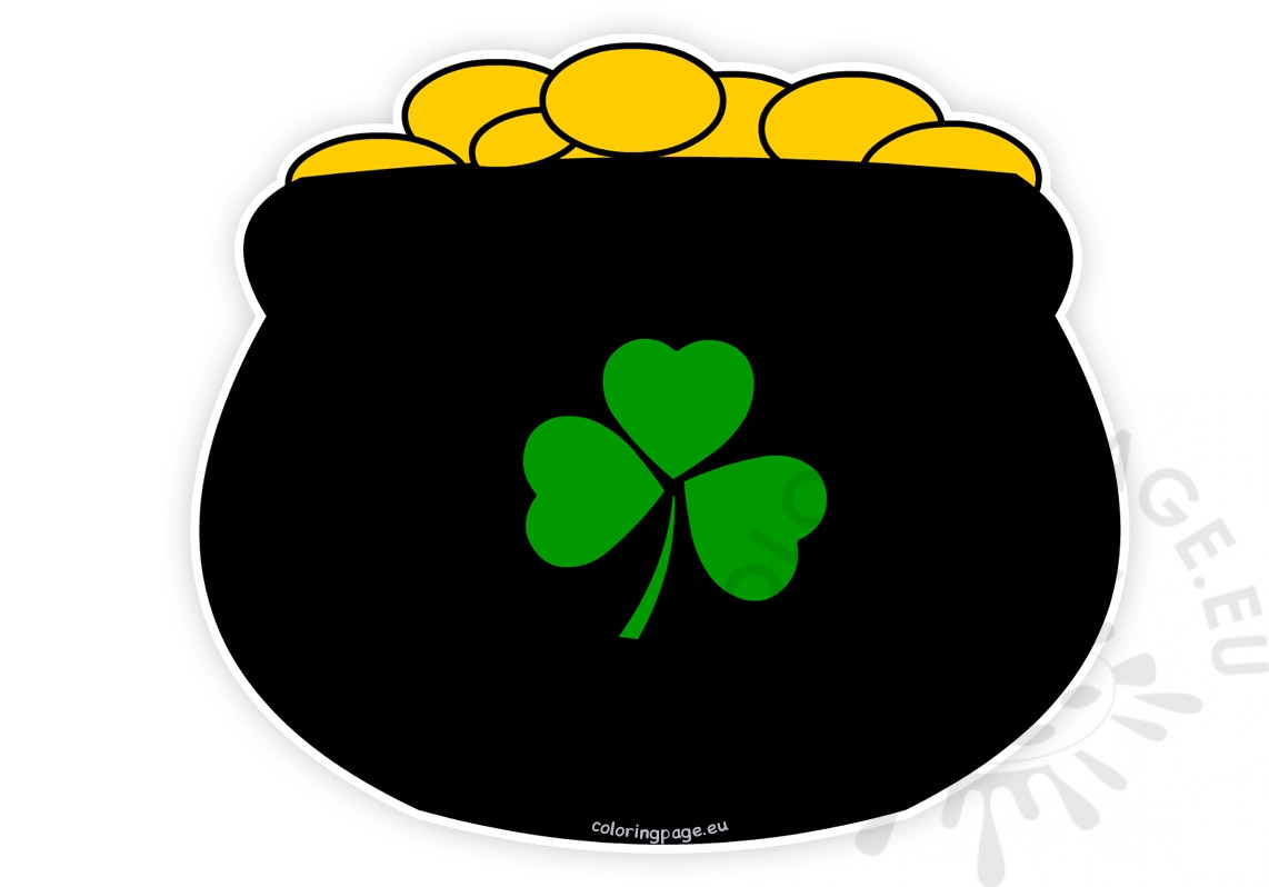 rainbow and pot of gold clipart at getdrawings com free for rh getdrawings com clip art pot of gold rainbow clipart leprechaun pot of gold