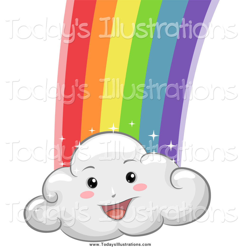 1024x1044 Clipart Of A Happy Cloud With A Rainbow By Bnp Design Studio