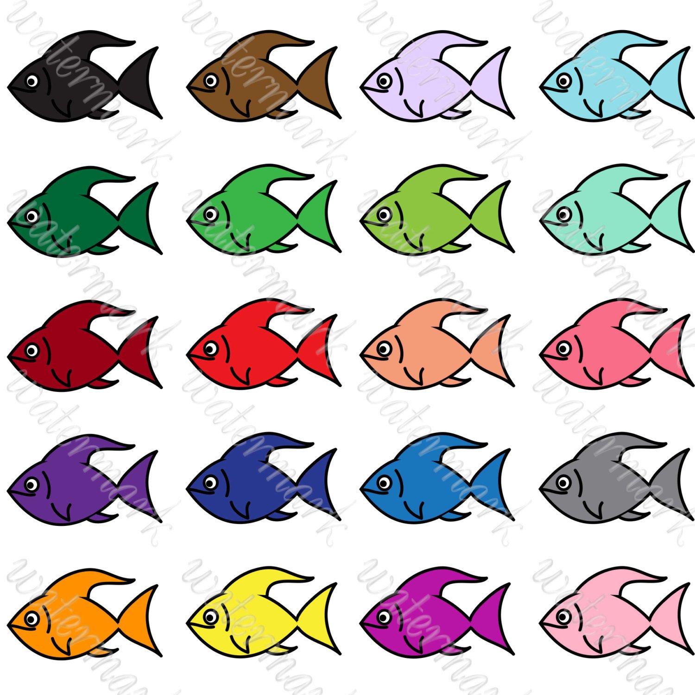 1500x1500 Fish Clipart Bright Fish Digital Clipart Fish Png Fish Clip Art