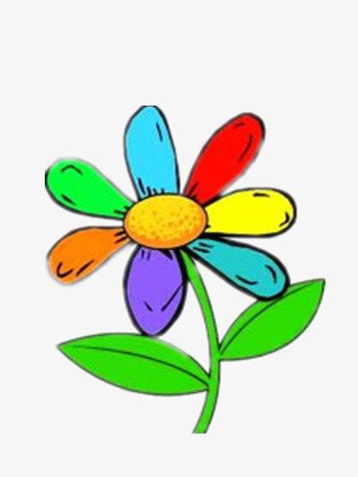 400x533 Rainbow Flowers, Beautiful, Bright, Cartoon Png Image And Clipart