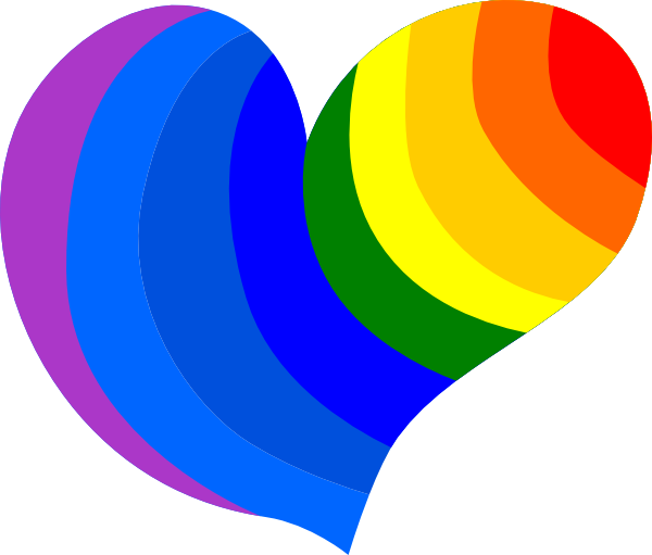 600x511 Heart Rainbow Picture Rainbow Heart Clip Art Nicole