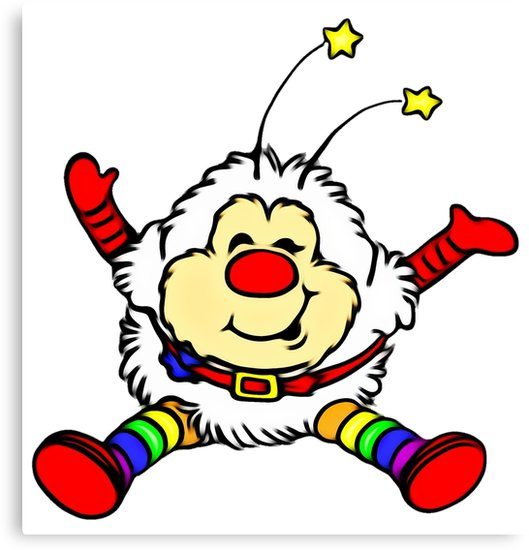 529x550 Rainbow Brite Sprite Twink, Classic 80s Cartoon Cute Canvas