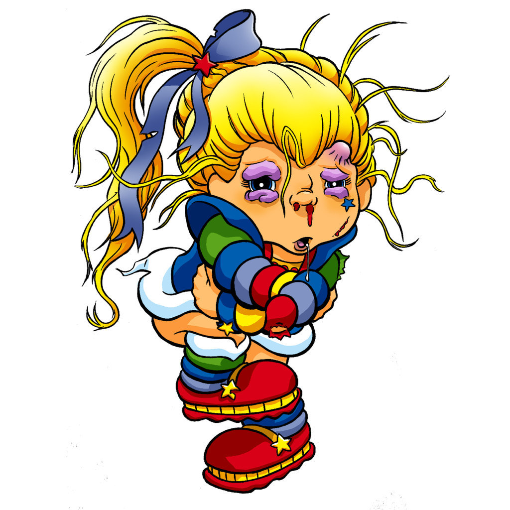 1024x1024 Rainbow Brite Beaten Up By Ratcrtur
