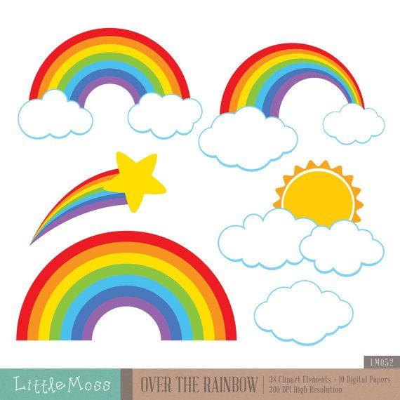 570x570 Over The Rainbow Clipart Rainbows, Etsy And Iris