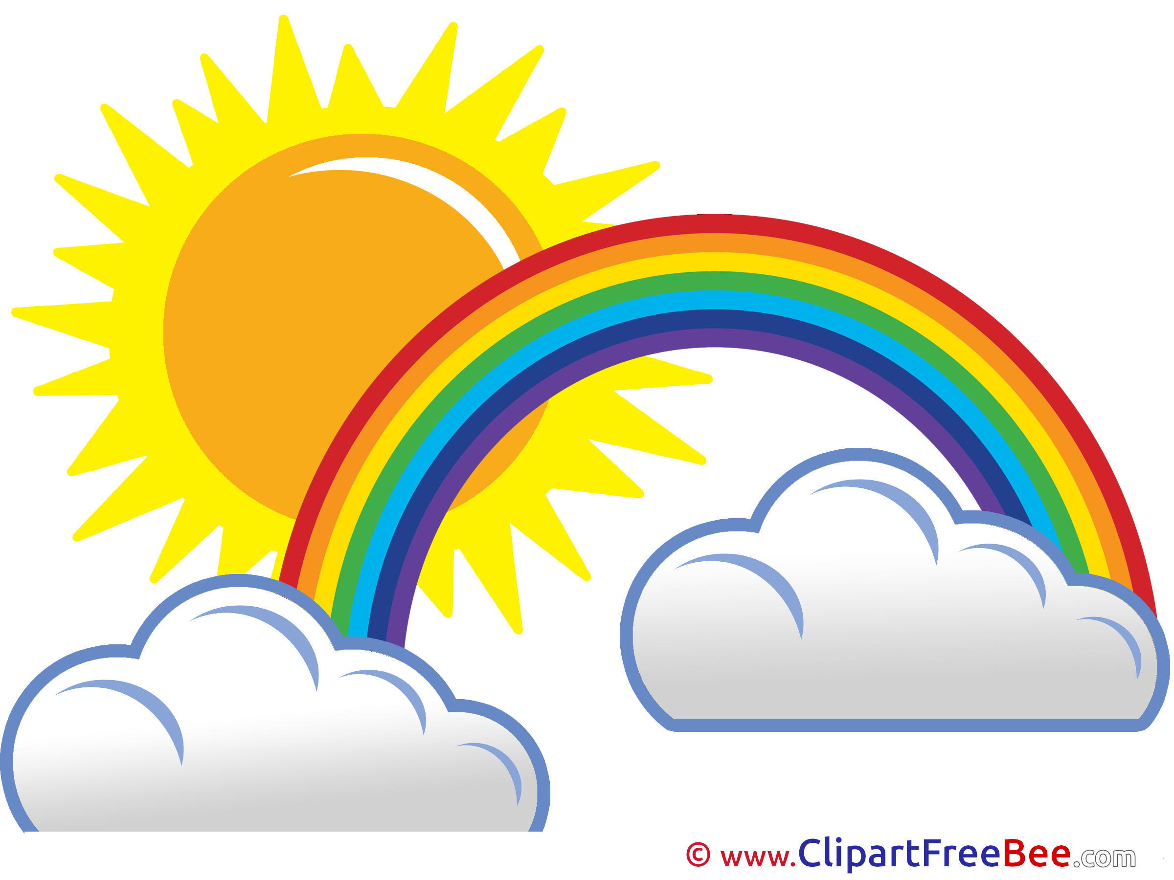 2400x1800 Sunny Day Rainbow Clouds Sun Pics Free Illustration