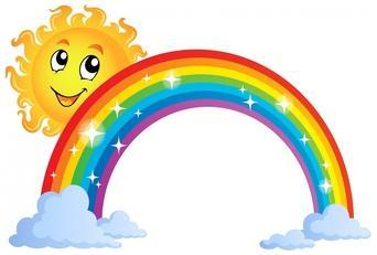 342x231 Sunshine And Rainbow Clipart