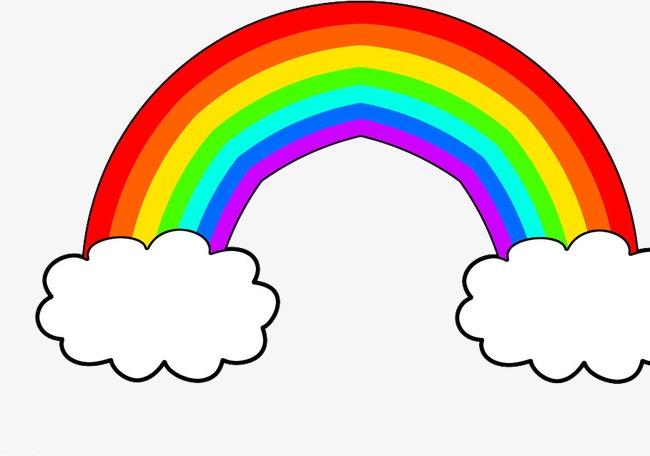 650x456 Cartoon Cute Rainbow, Cartoon, Lovely, Rainbow Png Image