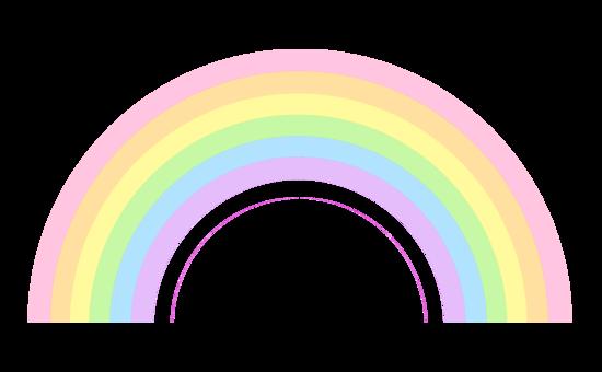 550x340 Cute Pastel Rainbow Clip Art
