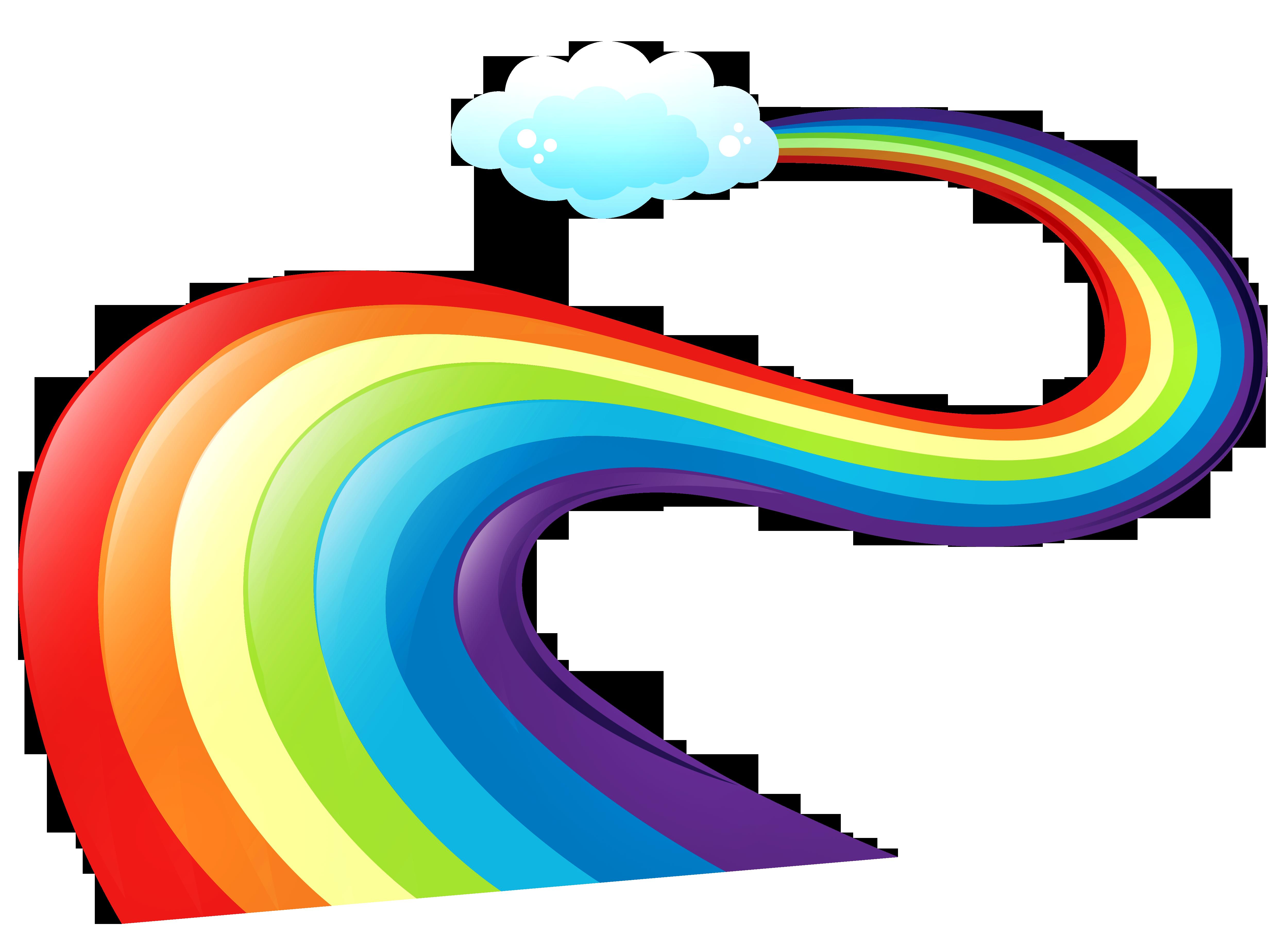 rainbow clipart clip way rainbows cartoon cliparts background vector road hd designs