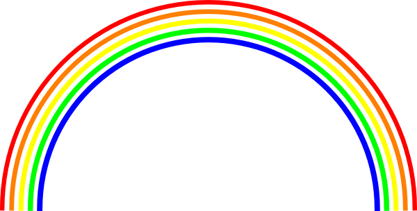 600x304 Rainbow Black And White Black And White Rainbow Clipart
