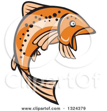 450x470 Royalty Free (Rf) Rainbow Trout Clipart, Illustrations, Vector