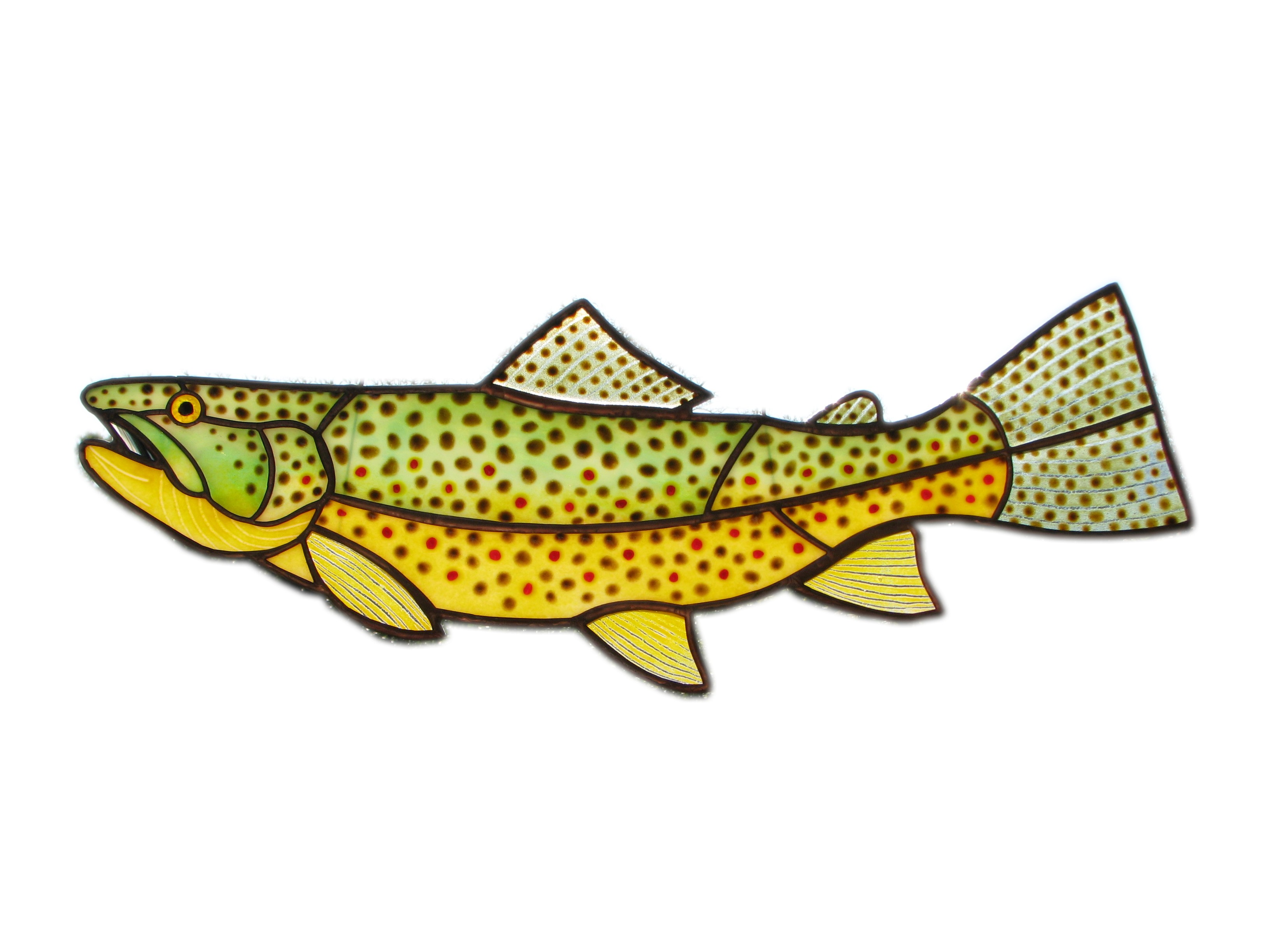 3264x2448 Fresh Water Fish, Stained Glass Art