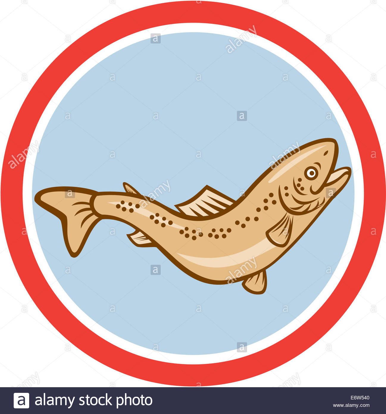 1297x1390 Illustration Of A Trout Rainbow Fish Jumping Viewed From The Side