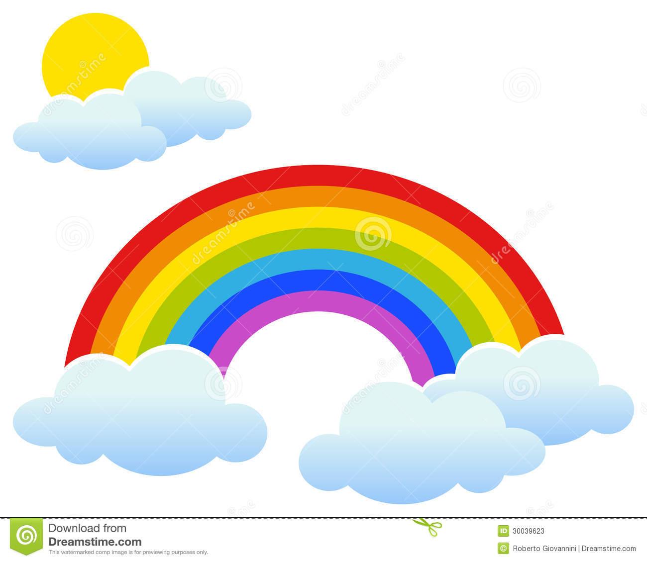 1300x1130 Rainbow Sunset Clipart