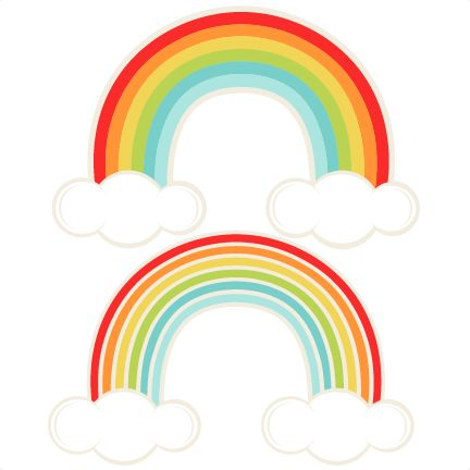 Rainbow With Pot Of Gold Clipart