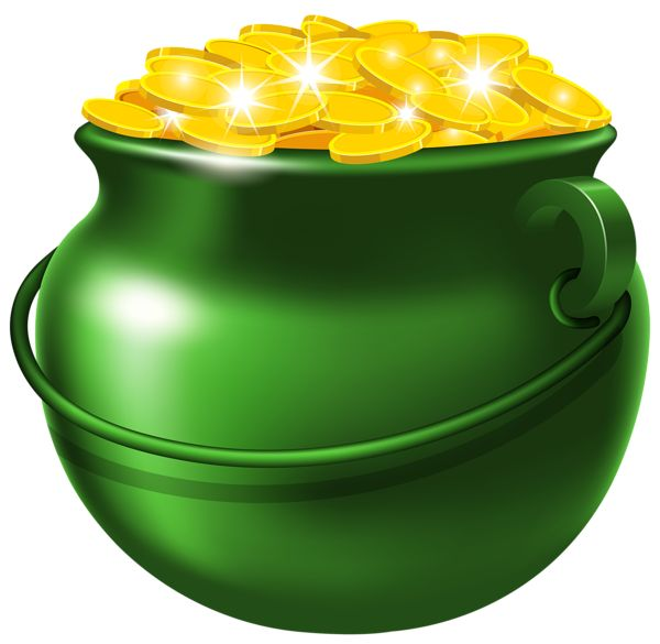 Rainbow With Pot Of Gold Clipart At Getdrawingscom Free For
