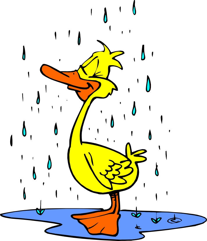 712x828 Duck In The Rain Clip Art