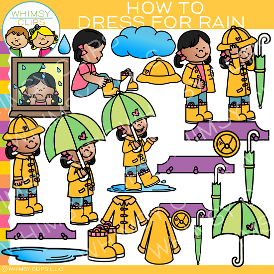 550x550 How To Get Dressed For Rainy Weather Clip Art , Images
