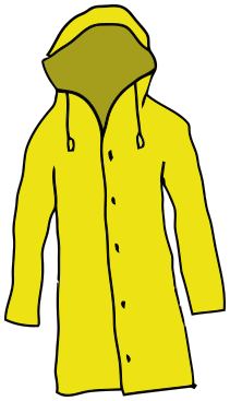 211x367 Collection Of Yellow Raincoat Clipart High Quality, Free