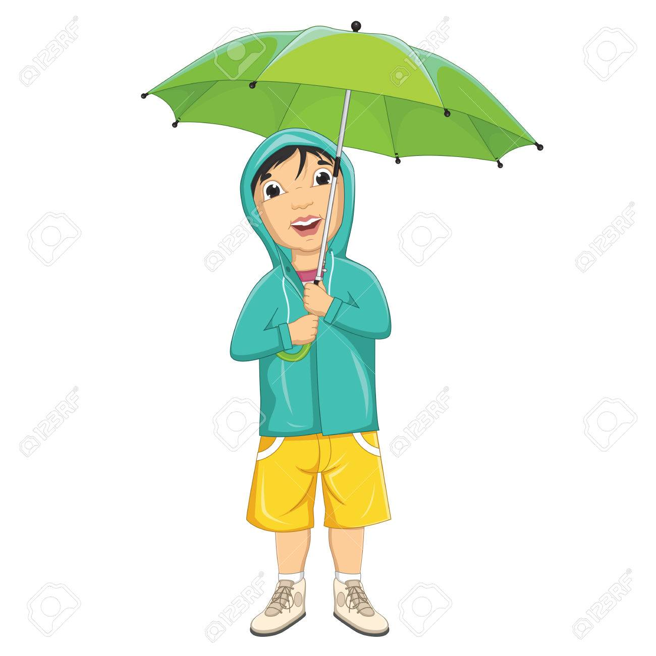 1300x1300 Boy With Umbrella Clipart Amp Boy With Umbrella Clip Art Images