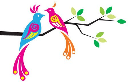 455x292 Free Colorful Birds Clipart And Vector Graphics
