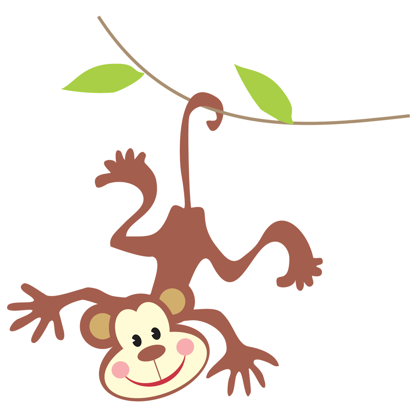 1600x1600 Collection Of Rainforest Monkey Clipart High Quality, Free