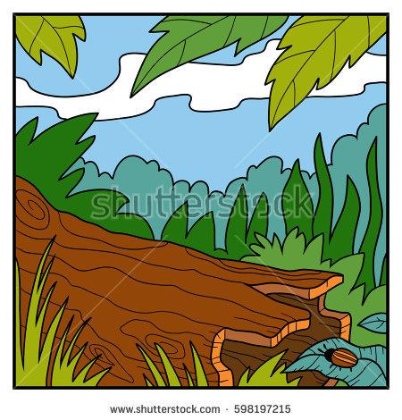 450x470 Fallen Tree Clipart