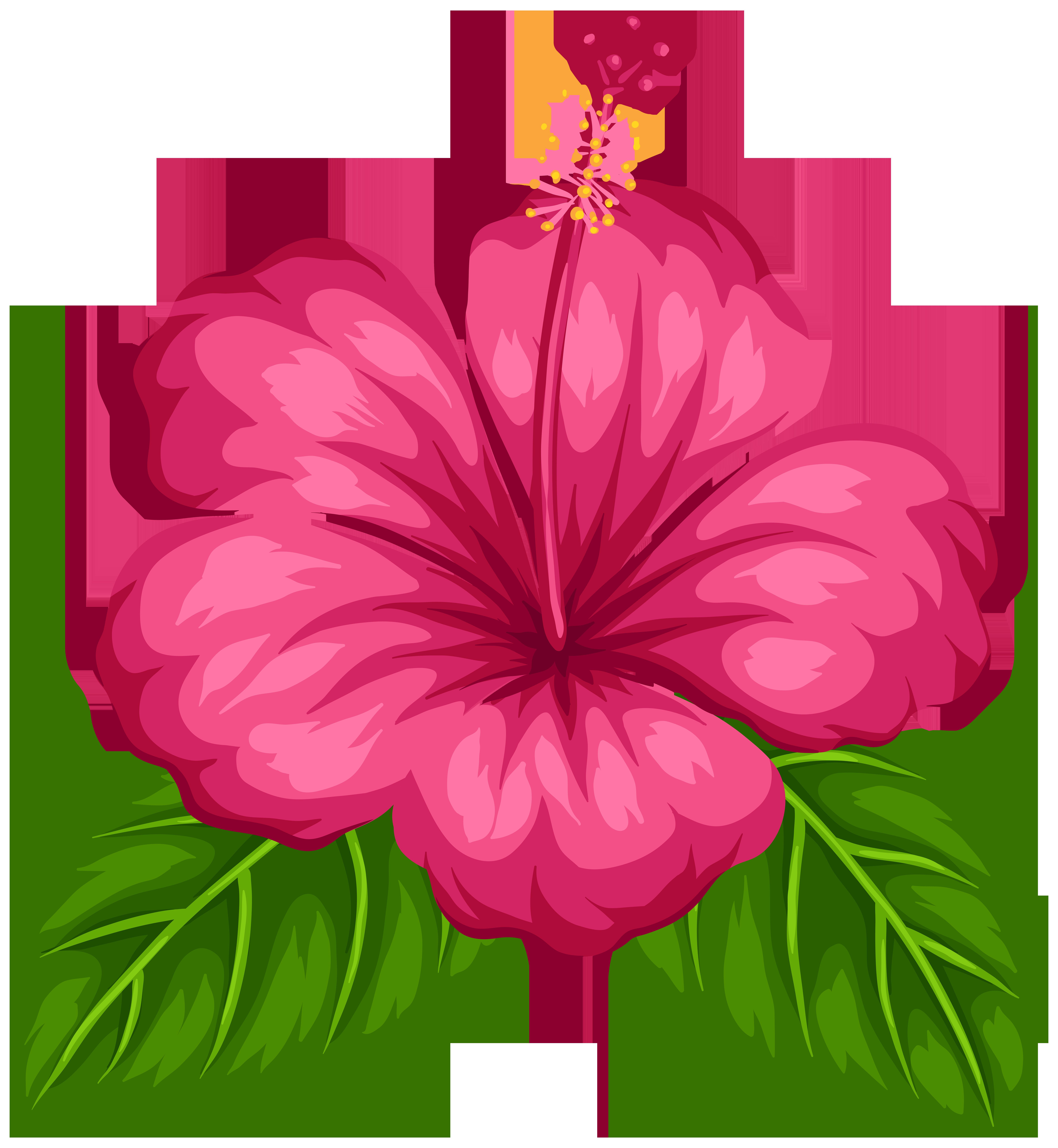 7375x8000 Cartoon Tropical Flower Clipart Collection