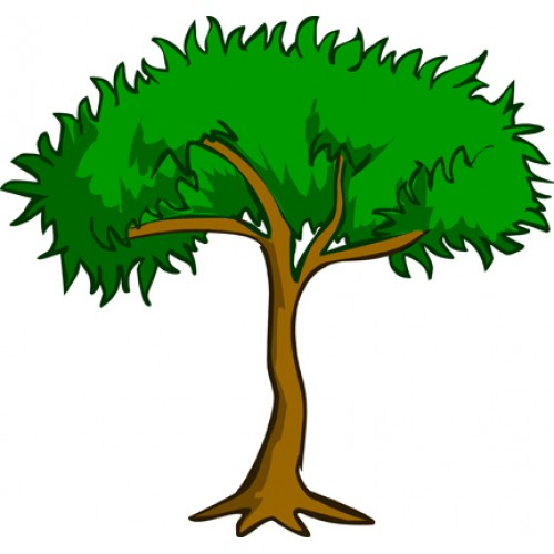 500x500 Nut Tree Clipart