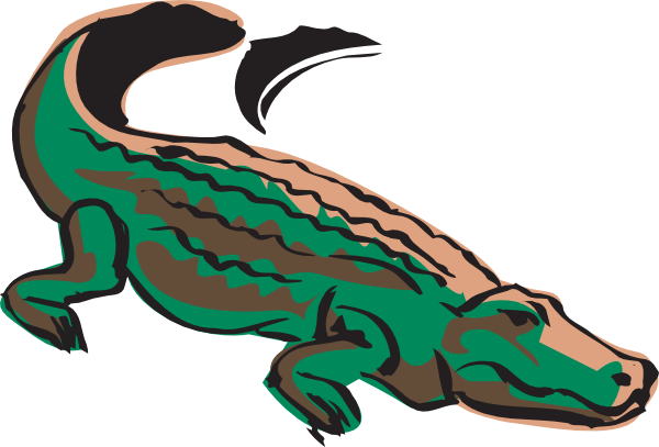 600x407 Rainforest Clipart Crocodile