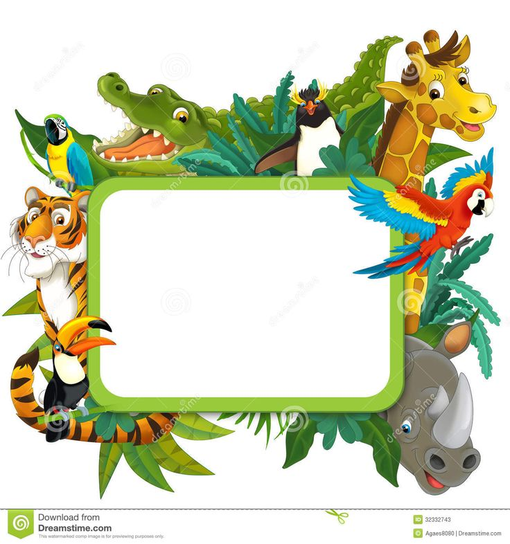 736x786 Jungle Frame Clipart