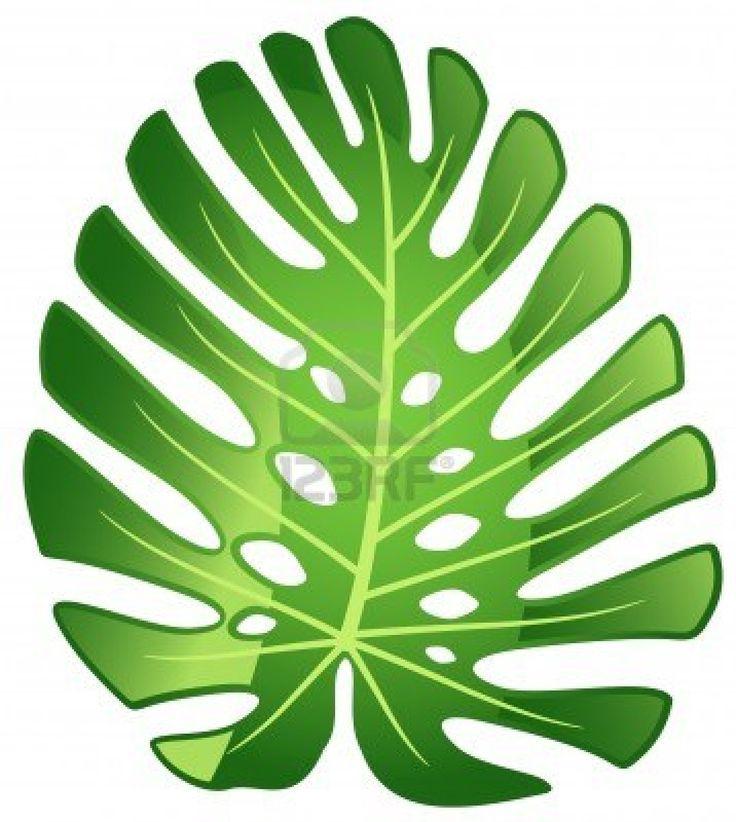 736x822 Monstera Leaf Stencil