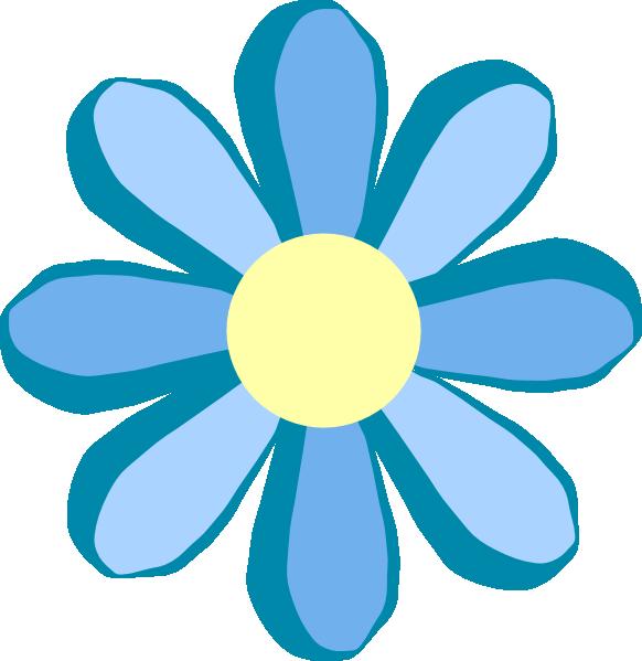 582x599 Blue Flower Clipart Jungle Flower