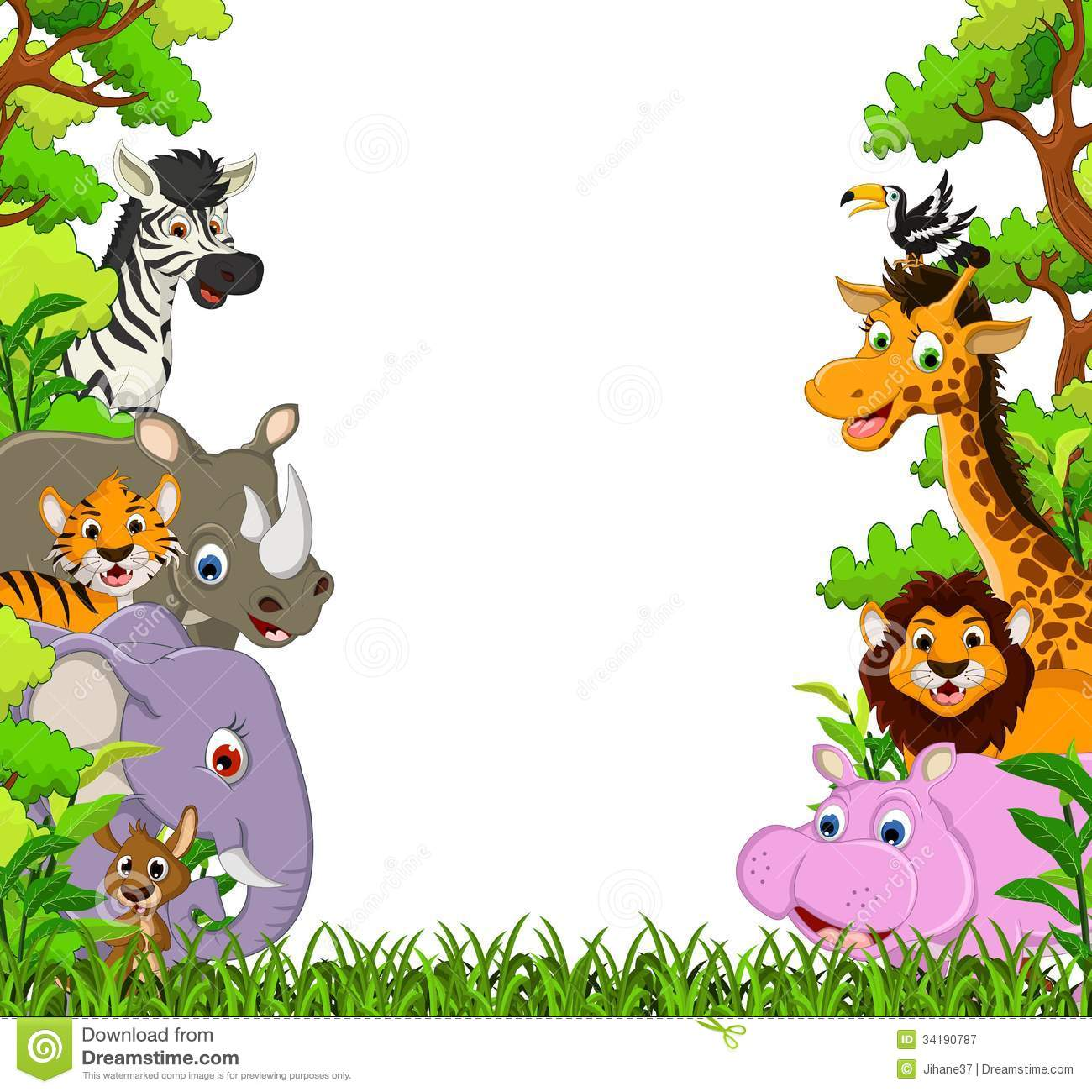 1300x1300 Jungle Cartoon Clipart