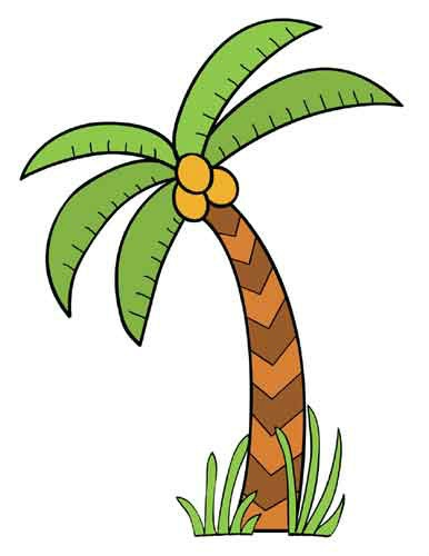 386x500 Palm Tree Clipart Jungle Foliage