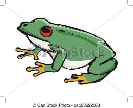 450x366 Tree Frog, Illustration Of Wildlife, Zoo, Wildlife, Animal Clip