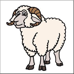 304x304 Clip Art Cartoon Sheep Ram Color I Abcteach